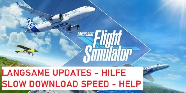 Microsoft Flight Simulator Langsame Updates
