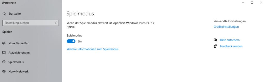 Windows 10 Spielemodus Gamemode