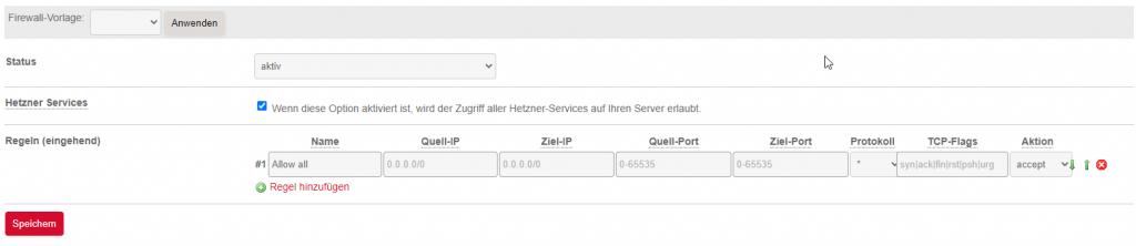 Firewall aktivieren
