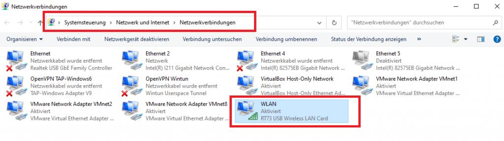 Systemsteuerung - Netzwerkeinstellungen